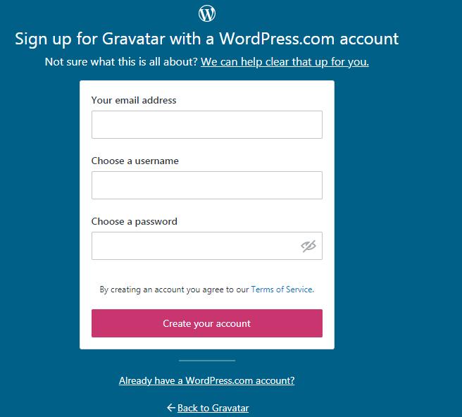 Updating your WordPress Avatar - Step 2